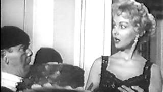 "Greta Thyssen and Moe Howard in ""Let Them Eat Cake"""