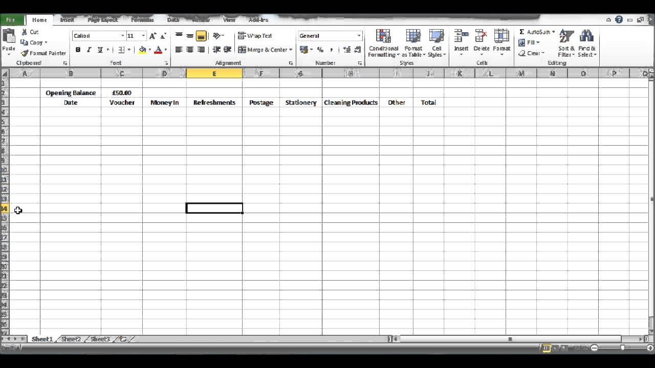 How to create a petty cash template using excel part 2 youtube how to create a petty cash template using excel part 2 pronofoot35fo Image collections
