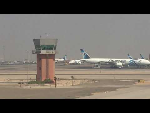 Takeoff From Cairo Airport on EgyptAir's B777-300ER [HD]