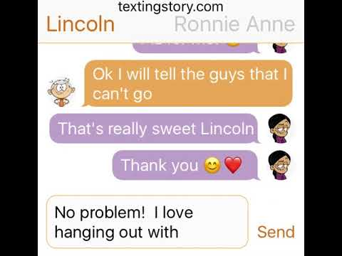 Lincoln and his friends texting! Part 1