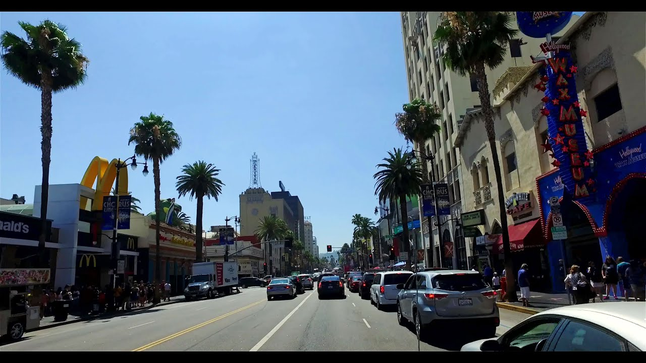 Hollywood Boulevard, Los Angeles California 2016 - 4K ...