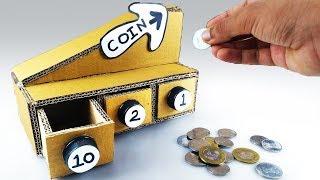 Bozuk Para Ayırma Makinesi Nasıl Yapılır - DIY Coin Sorting Machine from Cardboard
