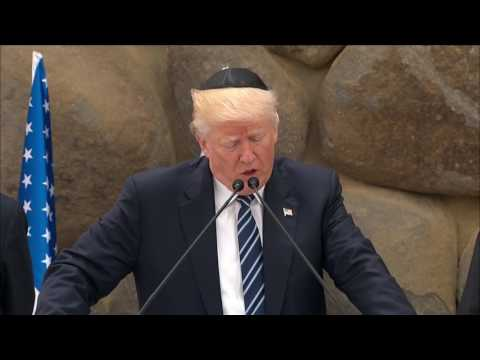 Trump gives remarks in Israel to honor Holocaust victims