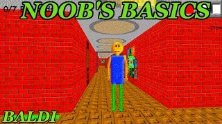NOOBS BASICS IN ROBLOX | Baldi's Basics in Education and Learning