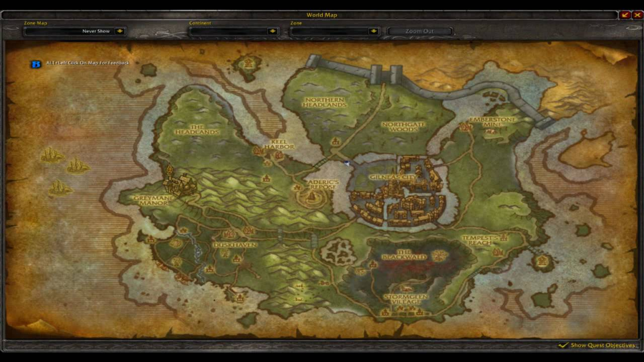World of warcraft cataclysm official in game maps gilneas the lost world of warcraft cataclysm official in game maps gilneas the lost isles and the twin peaks gumiabroncs Gallery