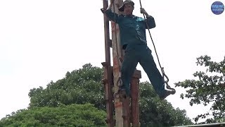 Ép Cọc Bê Tông Hiện Đại Ai Bảo Không Nguy Hiểm (Phần 1)/dangerous job in vietnam