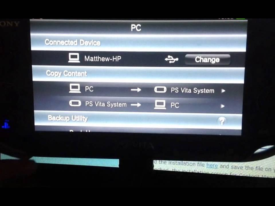 How to transfer data from Ps Vita to laptop or PC