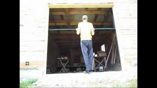 подъемно поворотные ворота, открывание ворот