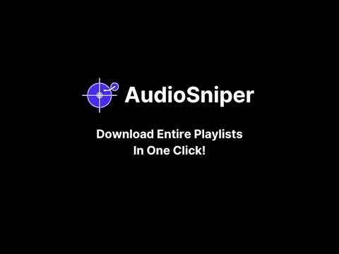 AudioSniper Demonstrated (soundcloud to mp3)