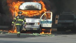 crazy jitney bus fire in bayonne nj 10 29 16