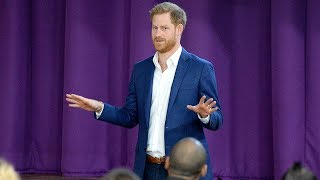 Prince Harry visits Nottingham school for World Mental Health Day