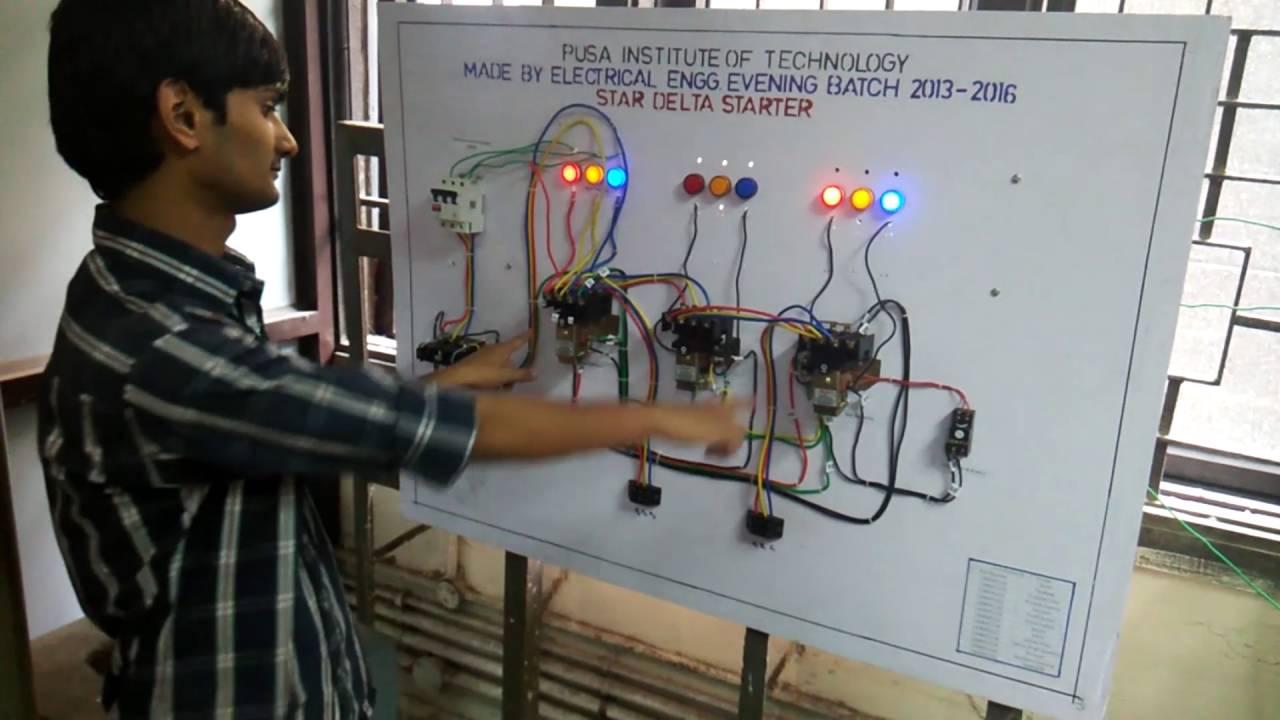 5 Wire Motor Diagram Automatic Star Delta Starter Part 3 Demonstration
