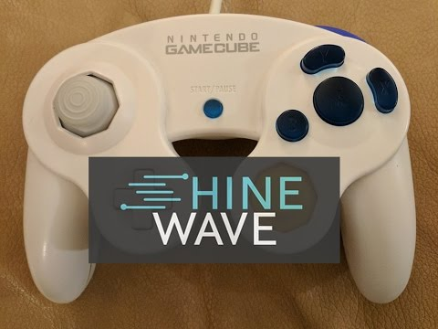 Shinewave Gamecube Controller Custom Buttons Unboxing + First Impression