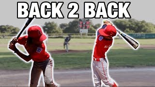 **MUST WATCH** THESE KIDS HIT BACK TO BACK HOME RUNS!   LITTLE LEAGUE BASEBALL GAME