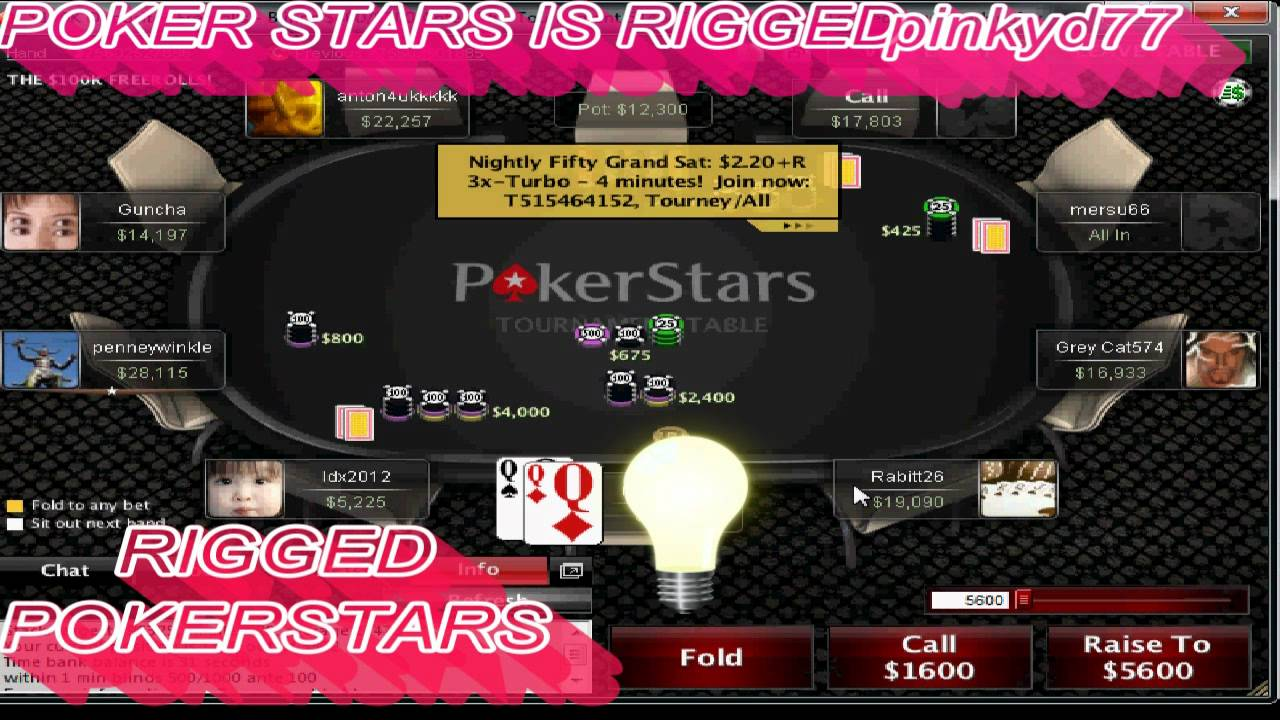 Pokerstars Rigged