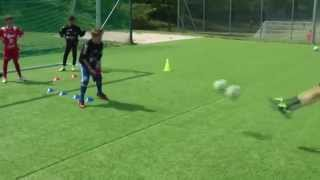 Coach football amazing youth goalkeeper training soccer