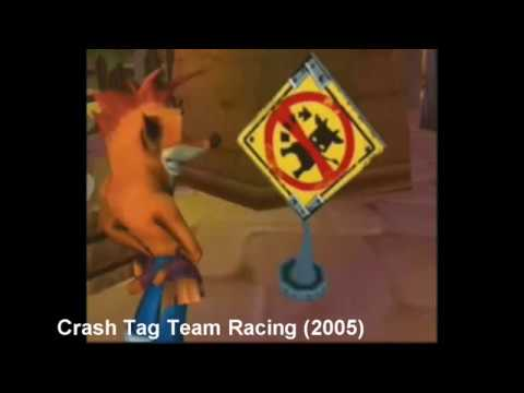 The times Crash Bandicoot is voiced by Jess Harnell