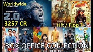 Box Office Collection Of Robot 2.0, Thugs Of Hindostan, Bhaiaji Superhitt Movie Etc 2018