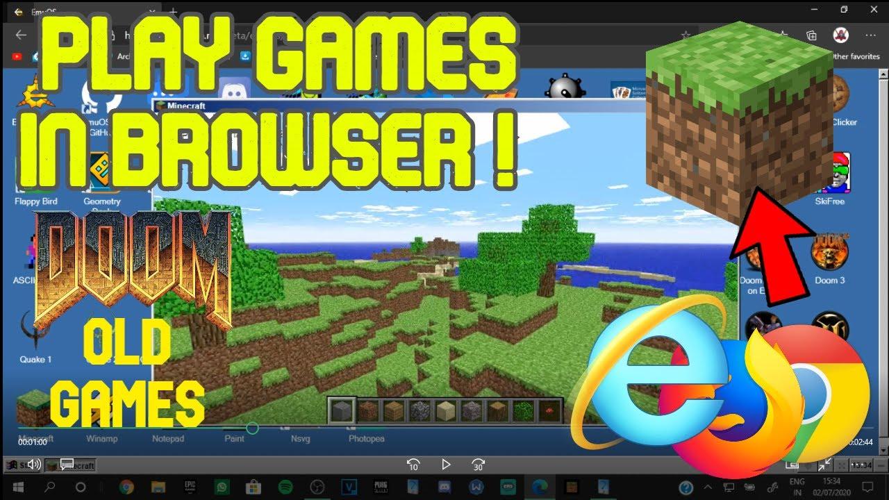 EMU OS  Online Windows Emulator  Play Minecraft, Old games, Doom