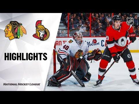 NHL Highlights   Blackhawks @ Senators 1/14/20