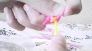 Бабочка из резинок Rainbow loom , Урок 1 , крючком