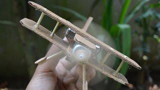 Cara Membuat Pesawat Dengan DC Dinamo - Diy Mainan Pesawat Kardus