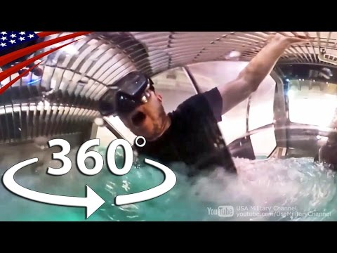 ヘリコプター墜落時の水中脱出訓練【360度動画】 - Underwater Egress Training in the Case of Helicopter Crash [360° Video]