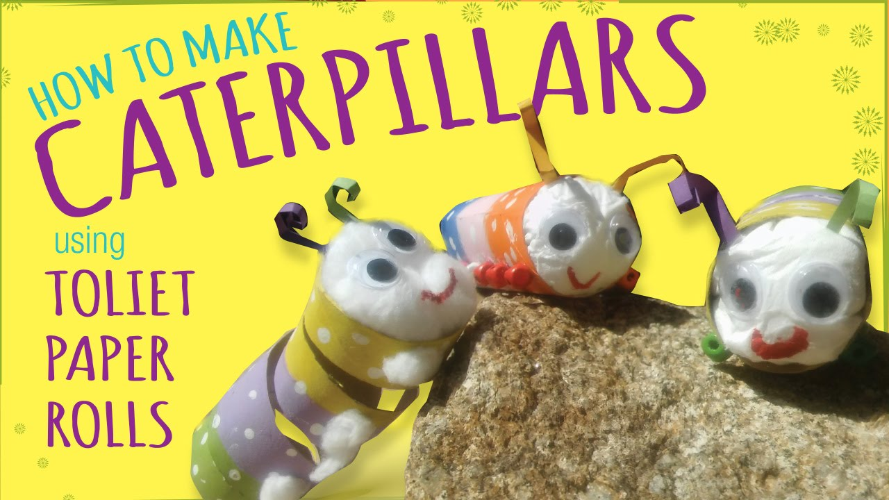 How To Make A Caterpillar Toilet Paper Roll Craft Easy Kids