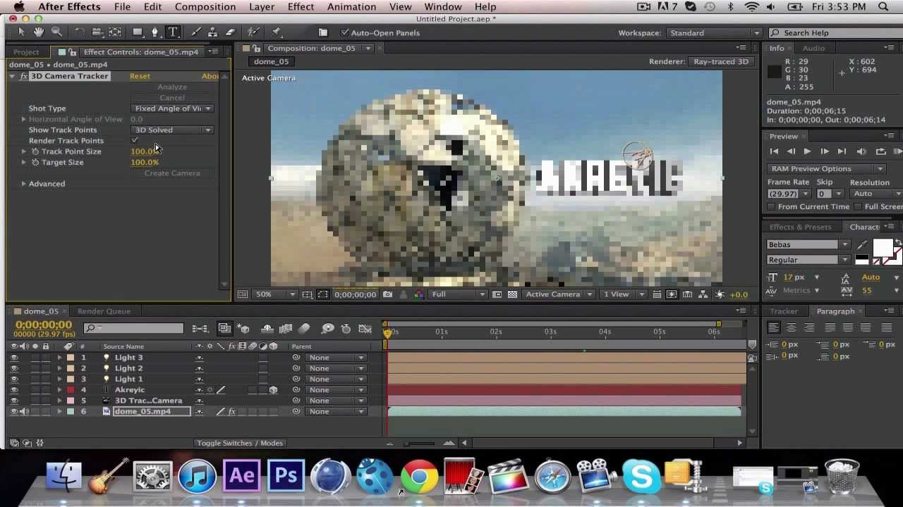 Adobe After Effects Cs6 3d Text Motion Tracking Tutorial