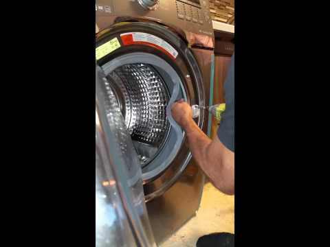 Door Latch Assembly Samsung Washing Front Loader Youtube