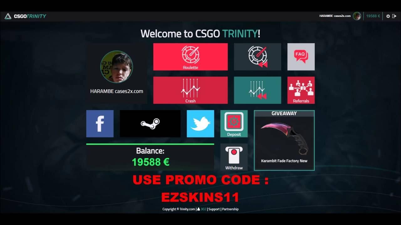 Csgotrinity promo code