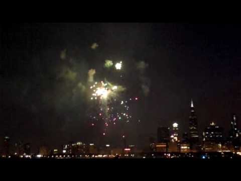 Venetian Night Chicago Fireworks from Lake Michigan Chicago Charter Boat