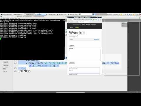 websockets com tornado, web2py, python, jquery 1280x720