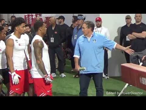 Ohio State pro day 2018 - Belichick got involved