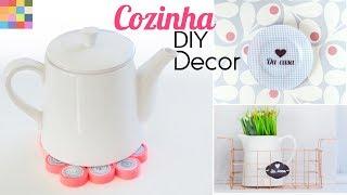 3 Ideias DIY para a Cozinha ☕️ Ft. Jessika Taynara | Prato decorativo, cesto organizador...