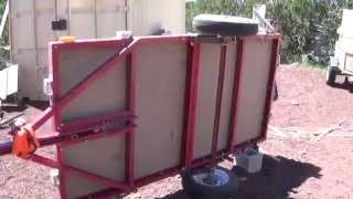 Harbor Freight Utility Folding 4x8 Trailer - Rewiring the Lights