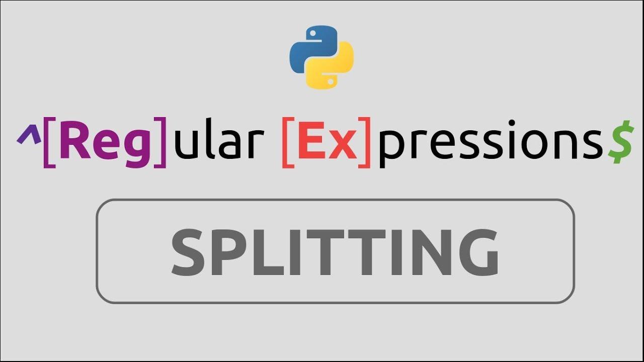 RegEx in Python (Part-9) | Splitting