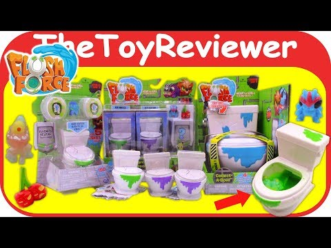 Flush Force Series 1 Blind Bags Collect-a-Bowl Collectible Toilet Unboxing Toy Review TheToyReviewer