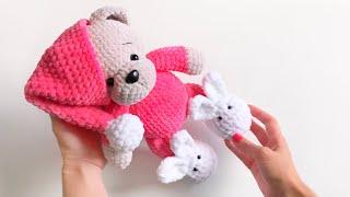 Мишка в пижамке. МК. Часть 2
