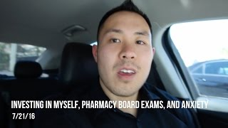 Investing in yourself, pharmacy board exams, and anxiety