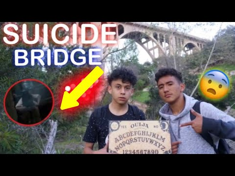 14 YEAR OLDS PLAY OUIJA BOARD AT SUICIDE BRIDGE! (CONTACTED ZOZO)