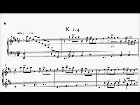 ABRSM Piano 2019-2020 Grade 8 A:2 A2 Scarlatti Sonata in D Kp.214 Sheet Music