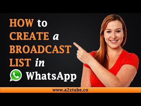 How to Create a Broadcast List in Whatsapp