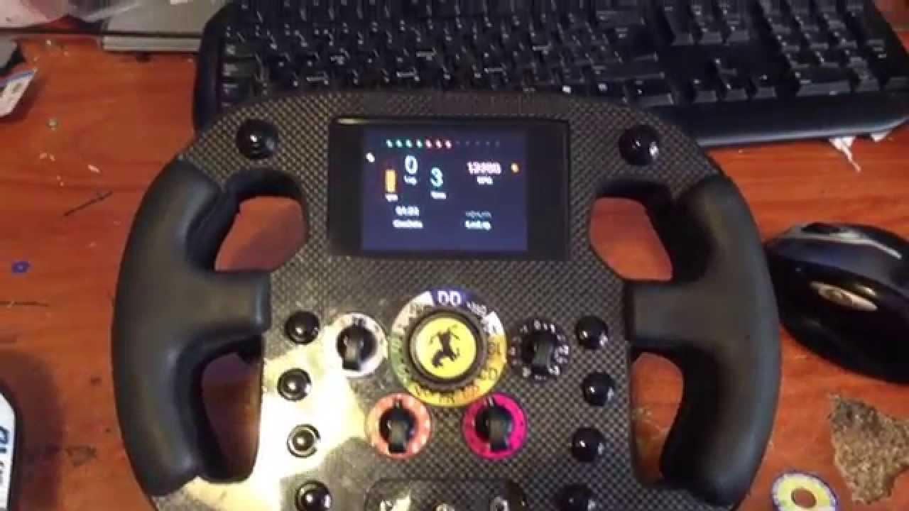 Volante F1 Steering Whell Ferrari Lcd 2014 Logitech
