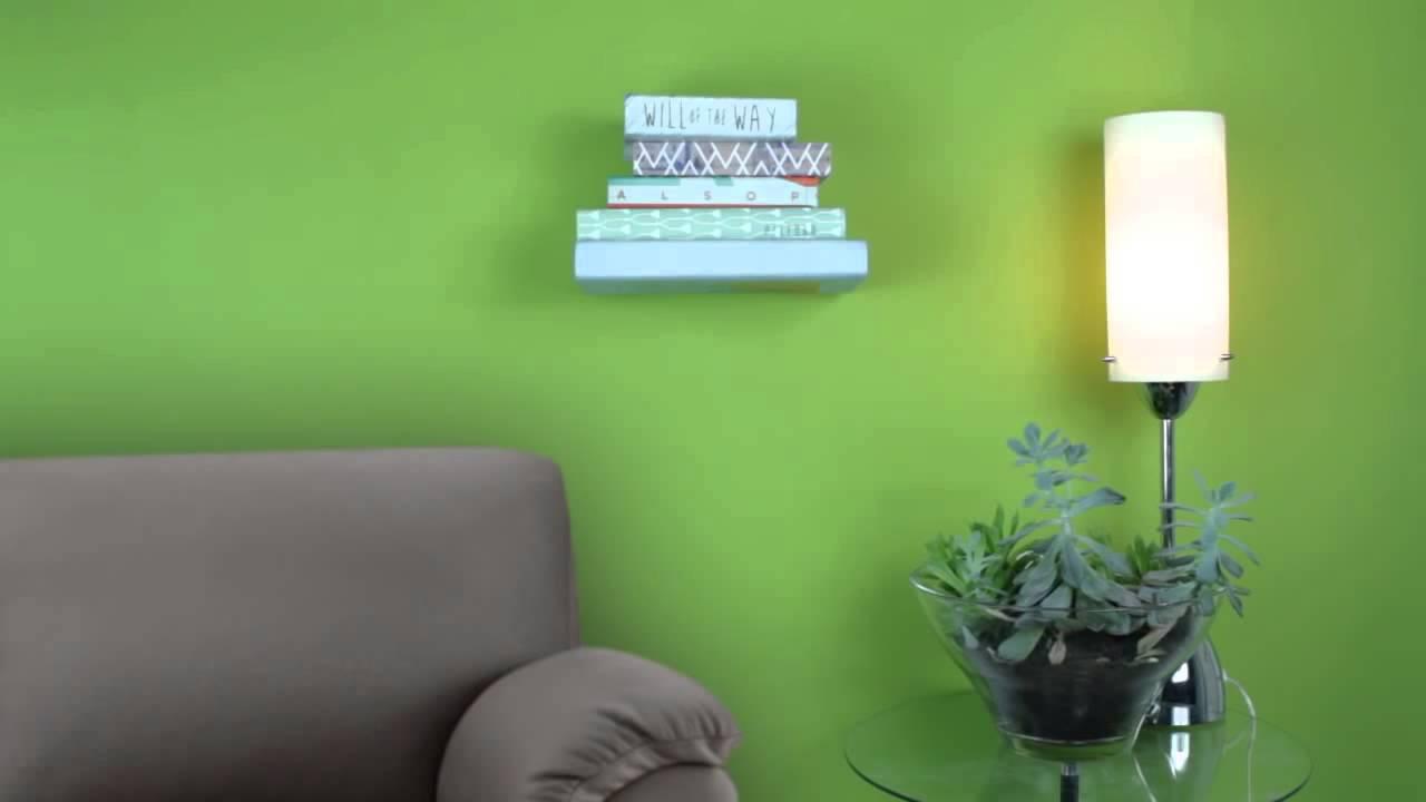 Conceal Boekenplank Umbra : Umbra conceal zwevende boekenplank youtube