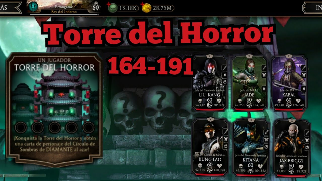 Torre del Horror (2020) | 164-191 | Mortal Kombat Mobile | Ya casi el Final