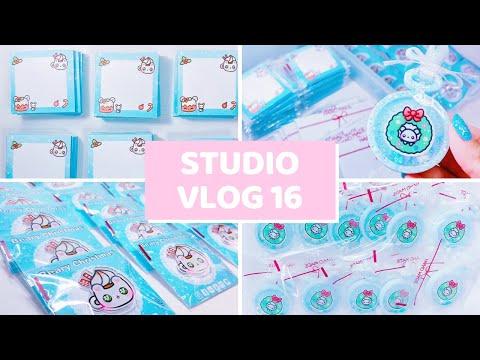 Studio Vlog 16: Small Business Goals \u0026 Packaging Patreon Orders