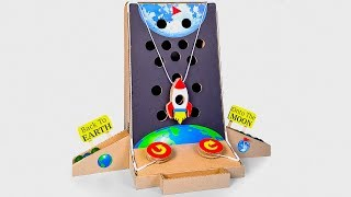 TO THE MOON AND BACK: How To Make Arcade Board Game From Cardboard