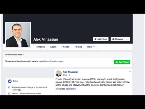 The Incel Rebellion and Alek Minassian Facebook post explained