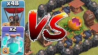 Clash Of Clans - CLONE WAR vs. SCARY PUMPKIN!!! (Holiday Troll maze base)